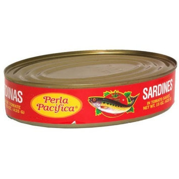 Napoleon Perla Pacifica Sardines Tomato, 15-Ounce Cans (Pack of 24)