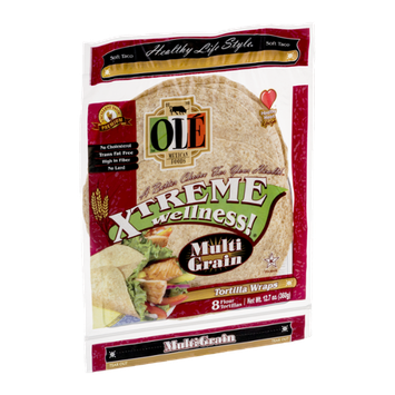 Ole Mexican Foods Xtreme Wellness! Tortilla Wraps Multi Grain - 8 CT