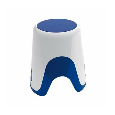 Gedy By Nameeks Gedy 7073-89 White/Blue Finish Bathroom Stool