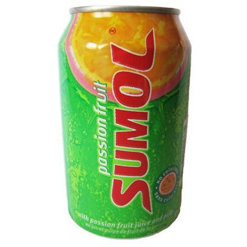 Sumol Passion Fruit Soda Portugal 12 Oz. Cans 24 Pack