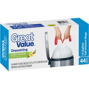 Great Value Vanilla Scent Odor Control Drawstring Tall Kitchen Bags