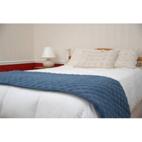Everest Pet Quilted Bed Scarf with Moisture Barrier in Blue Size: 24