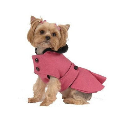 Max's Closet Pleated Dog Coat in Hot Pink