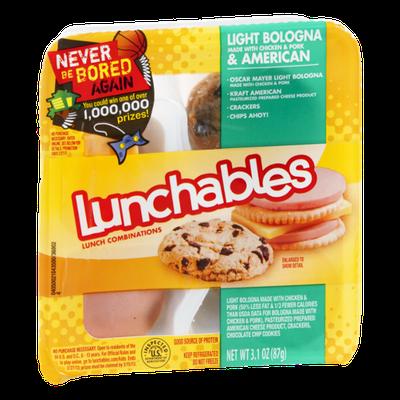 Lunchables Light Bologna & American