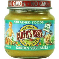 Earth's Best Organic Stage 2, Garden Vegetables, 4 Ounce Jars (Pack of 12)