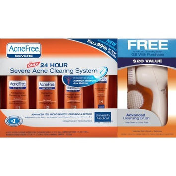 Acnefree 24 Hour Severe Acne Clearing System with Free Cleansing Brush, 11.52 Ounce