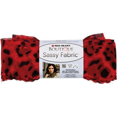 Coats & Clark Inc. Red Heart Boutique Sassy Fabric Yarn Red Leopard