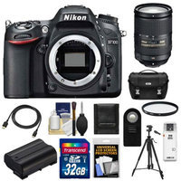 Nikon D7100 Digital SLR Camera Body with 18-300mm VR Lens + 32GB Card + Case + Battery + Filter + Tripod + Accessory Kit