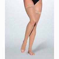 Sigvaris EverSheer 781NSLO99 15-20 Mmhg Open Toe Small Long Thigh Hosiery For Women Black
