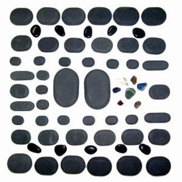 Sivan Health & Fitness Sivan Health and Fitness Basalt Lava Hot Stone Massage 60-piece Kit