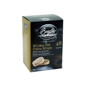 Bradley BTWOSE48 Flavor Bisquettes, Whiskey Oak - 48-Pack