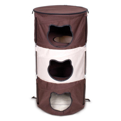 Ware Mfg Ware Manufacturing Pop-Up 3 Level Kitty Condo