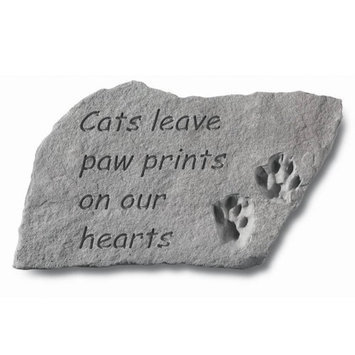 Kay Berry Memorial Stone - Cats Leave Pawprints on Our Hearts