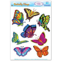 Party Central Club Pack of 96 Colorful Butterfly Spring or Summer Window Cling Decorations 17