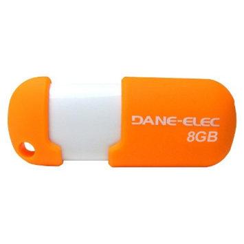 Dane-Elec 8GB USB Flash Drive w/Cloud - Orange/White (DA-Z08GCN5DA-C)