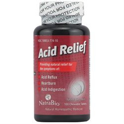 tra-bio Natra Bio Homeopathics Acid Relief Berry Flavored 100 chewable tablets 221846