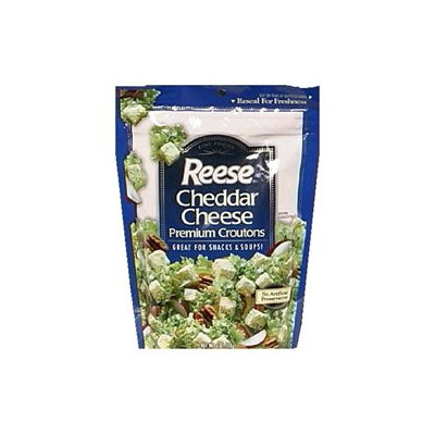 Reese Cheddar Cheese Croutons 6 oz Pack of 12