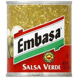Embasa Salsa Verde Green Medium 7 OZ -Pack Of 12