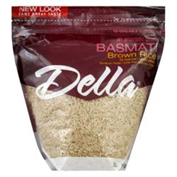 Della Gourmet Rice Brown Basmati 2 LB -Pack Of 6