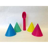 Cool Change 24152 1 Color Changing Scoop & 4 Snow Cone Cups 2 Packs