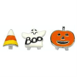 Mirage Pet Products 10-26 38Gst Halloween Slider Charms Ghost 38 Inch 10Mm
