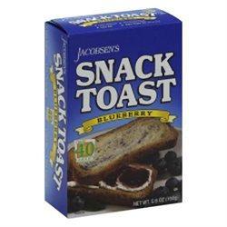 Jacobsen's Snack Toast Blueberry 5.6 oz