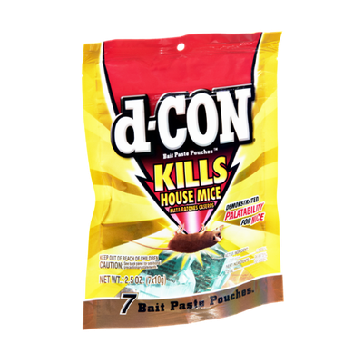 D-Con Kills House Mice Bait Paste Pouches - 7 CT