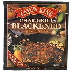 Cajun King Char Grill Blackened Seasoning, 1.25 oz, - Pack of 24