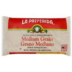 La Preferida Medium Grain Rice, 5 lb, - Pack of 6