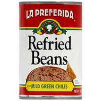 Enlightening Environments La Preferida Refried Beans With Mild Green Chiles, 16 oz, - Pack of 12