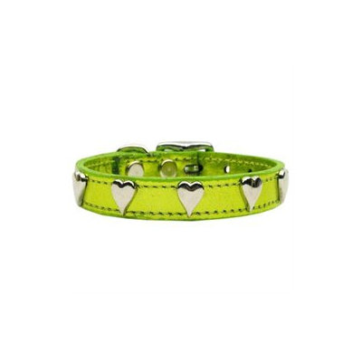 Mirage Pet Products 83-14 12LGM Metallic Heart Leather Lime Green MTL 12
