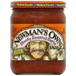 Newman's Own Roasted Garlic Salsa -Pack of 12