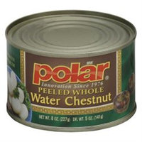 Mwpolar Polar Water Chestnuts Whole 8-Ounce, Pack of 12