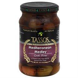 Tassos All Natural Greek Olives Mediterranean Medley 12.91 oz