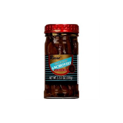 Reese Flat Anchovies In Glass 2.85 Oz Pack Of 12
