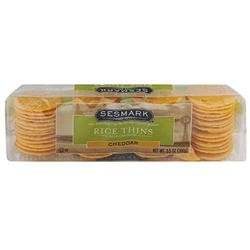 Sesmark Foods BG18025 Sesmark Foods Rice Thins Cheddar - 12x3.5OZ