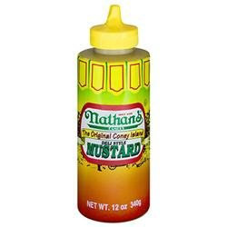Nathans Deli Squeeze Bottle Mustard -Pack of 12