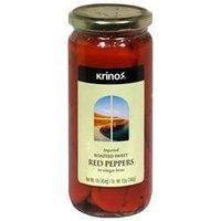Krinos Red Peppers - Roasted Sweet - 6 Jars (16 oz ea)