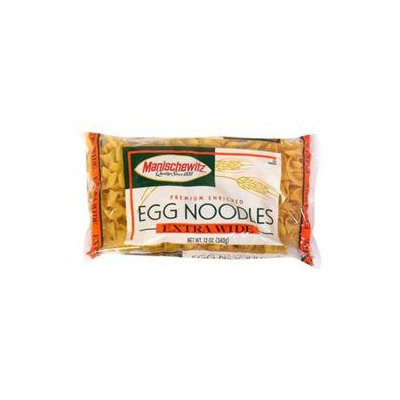 Manischewitz Extra Wide Egg Noodles, 12 oz, - Pack of 12