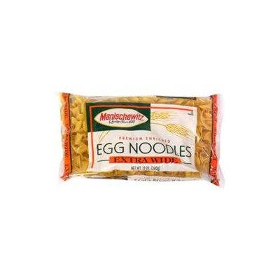 Manischewitz Extra Wide Egg Noodles, 12 oz, - Pack of 12