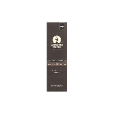 Scharffen Berger - Baking Chocolate Bar 99 Cacao Unsweetened - 9.7 oz.