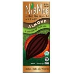 Nibmor 65% Dark Chocolate Almond Candy 2.2 Oz. -Pack of 12