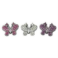 Mirage Pet Products 10-20 38Cl Slider Butterfly Charm Clear 38 Inch
