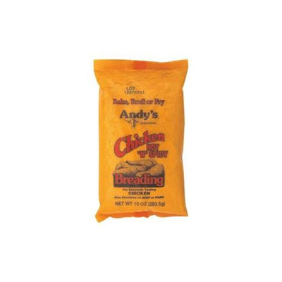 Andy's Andys Seasoning Hot N Spicy Chicken Breading, 10 oz, - Pack of 12