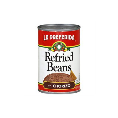La Preferida Refried Beans with Chorizo - 12 Cans (16 oz ea)