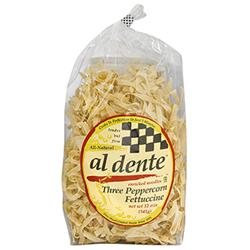 Al Dente Enriched Noodles - Three Peppercorn Fettuccine - 6 Bags (12 oz ea)