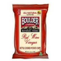 Boulder Canyon Red Wine Vinegar Kettle Chips 5-Ounce Bags Pack of 12