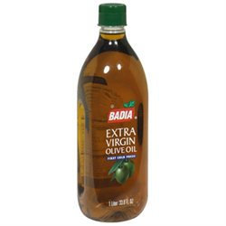 Badia Extra Virgin First Cold Press Olive Oil, 33.8 oz, - Pack of 12