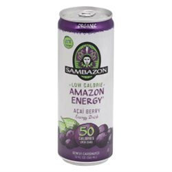 Sambazon Organic Amazon Energy Drink Low-Calorie Acai Berry 12 fl oz - Vegan