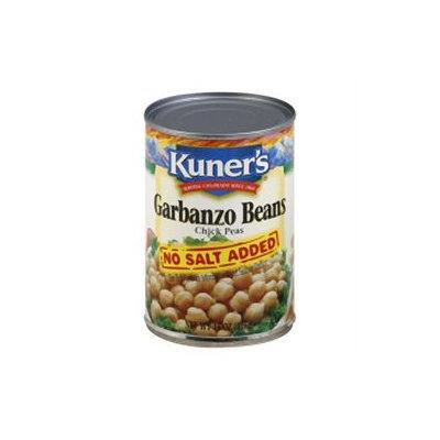 KeHe Distributors 78535 KUNERS BEAN GARBANZO NO SALT - Case of 12 - 15 OZ